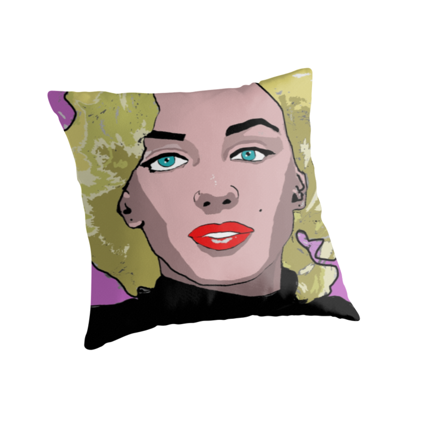 Monroe Throw Pillows. Soft and durable 100% Spun Polyester cushion cover with an optional Polyester fill/insert Double side/reversible sublimation print for vivid colours Concealed zip opening for a clean look and easy care Custom printed when you order
