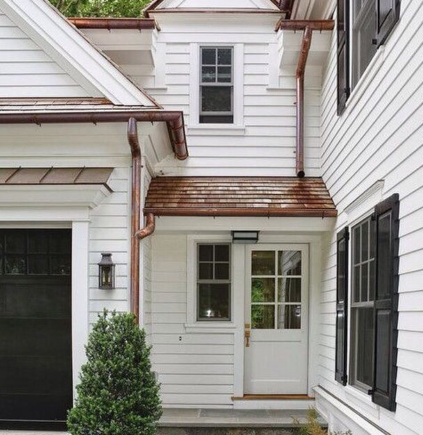 Clapboard House With Copper Accents House Exterior Exterior Design Architecture