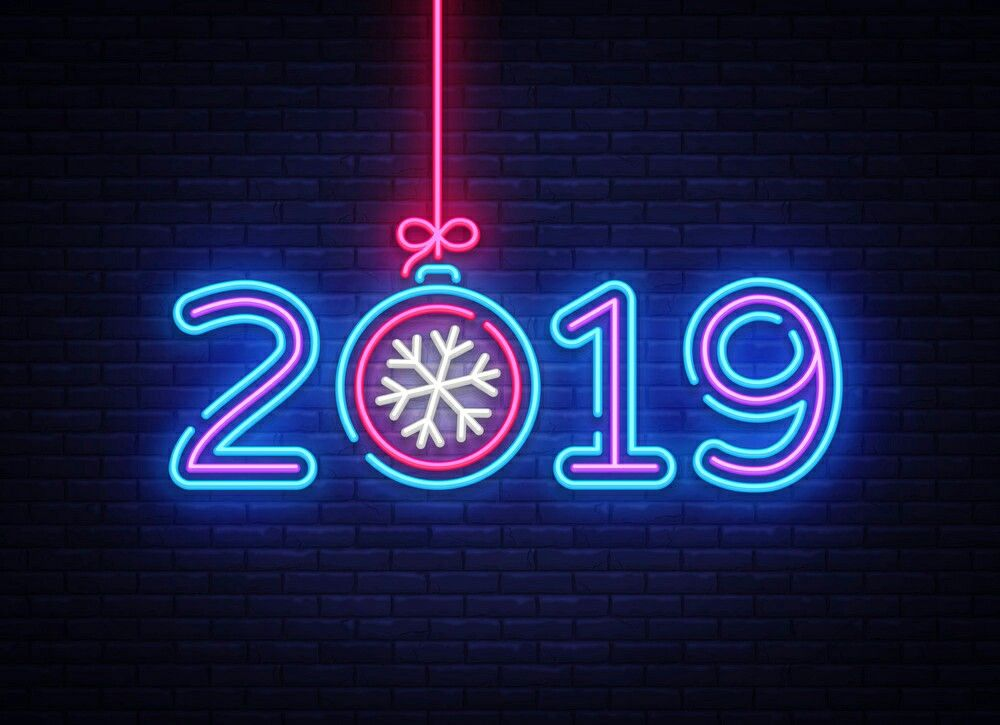 This is full 2019 Happy new year HD editing Background, cb