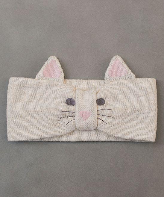 Cream Kitten Headwrap - Girls