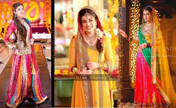 Mehndi Clothes For Brides : Mehndi dresses designs for pakistani brides 00121 things to wear
