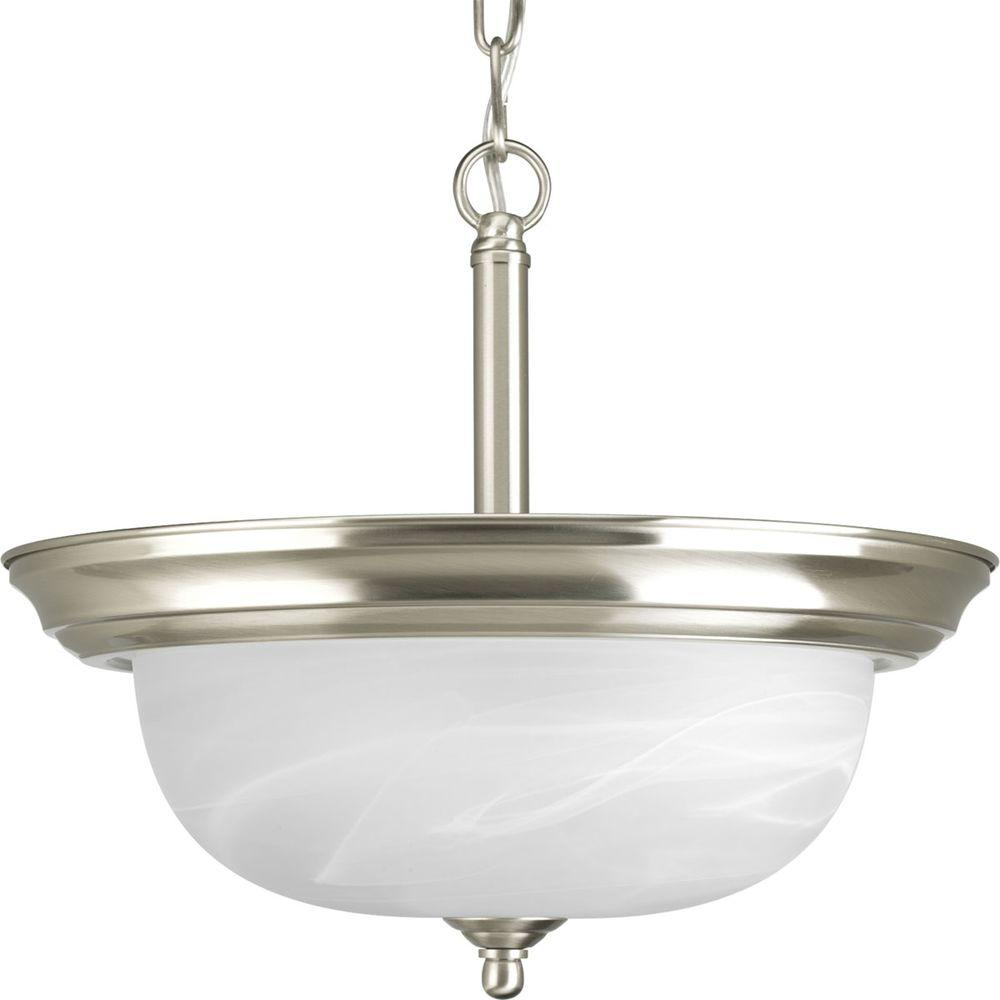 Thomas lighting prestige light brushed nickel semiflush mount