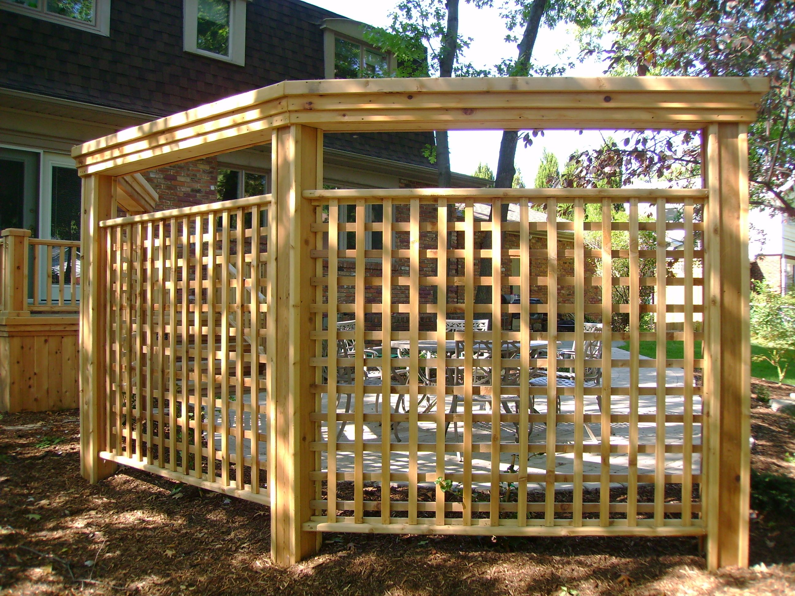 Privacy fence around hot tub walls and screens for Cheap patio privacy ideas