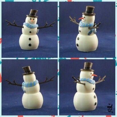 3D printed snowman 2