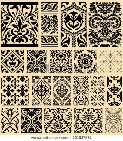 20 Seamless Patterns Background Collection - for design and scrapbook - in vector by Roberto Castillo, via Shutterstock