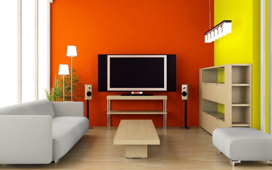 Interior Color Schemes Orange Yellow Themes Nice Design Tips For You