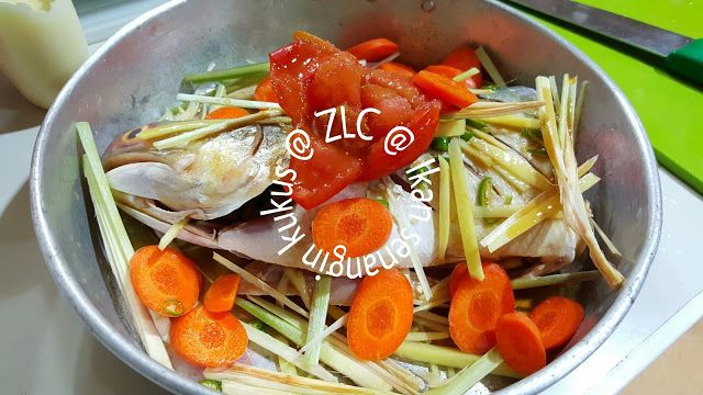 Zulfaza Loves Cooking Ikan Senangin Kukus Air Tangan Suami Memasak Masakan Ikan