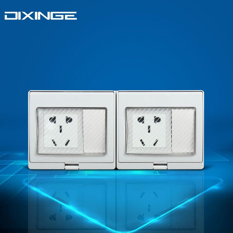 Multi-function Dual 5-pin Socket Wiring Light Wall Socket Wall ...
