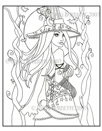 Free Printable Witch Coloring Pages For Adults Amazing Design
