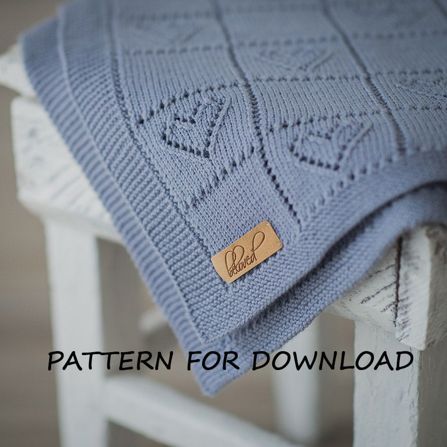 Knit Baby Blanket Pattern Knitting Pattern For Babies By
