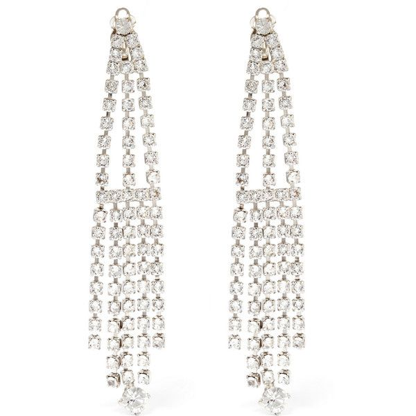 Saint Lau Silver Tone Crystal Clip Earrings 300 Liked On Polyvore Featuring