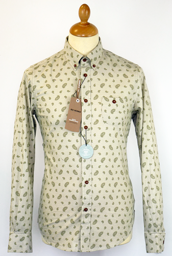 Mono Paisley Ben Sherman Mod Archive Print Shirt T Atomretrocom