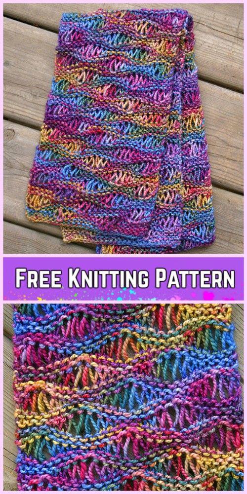 Knit Drop Stitch Free Knitting Pattern | tejido.a.2.agujas ...