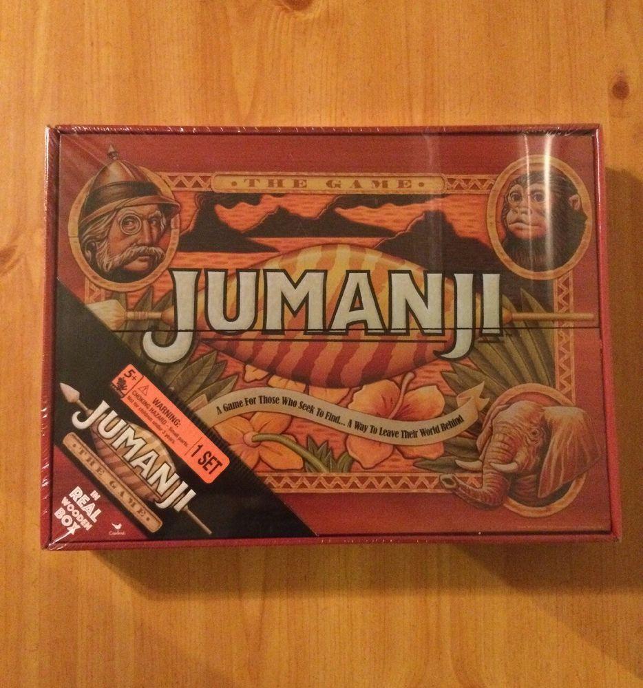 New Jumanji Board Game Cardinal Edition In Real Wooden Wood Box