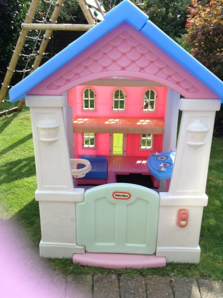 Little Tikes Playhouse Dolls House Girl S Pink With Blue