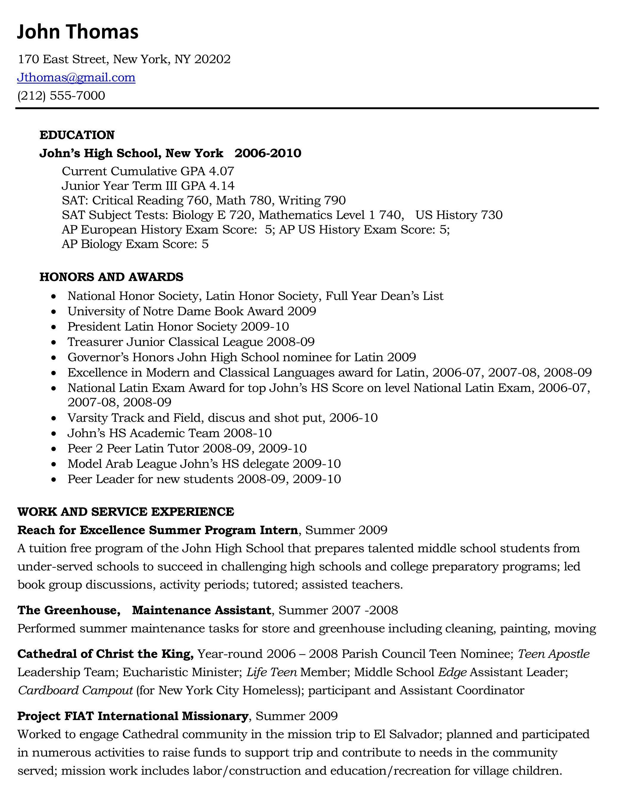 just outta high school pinterest high school resume template