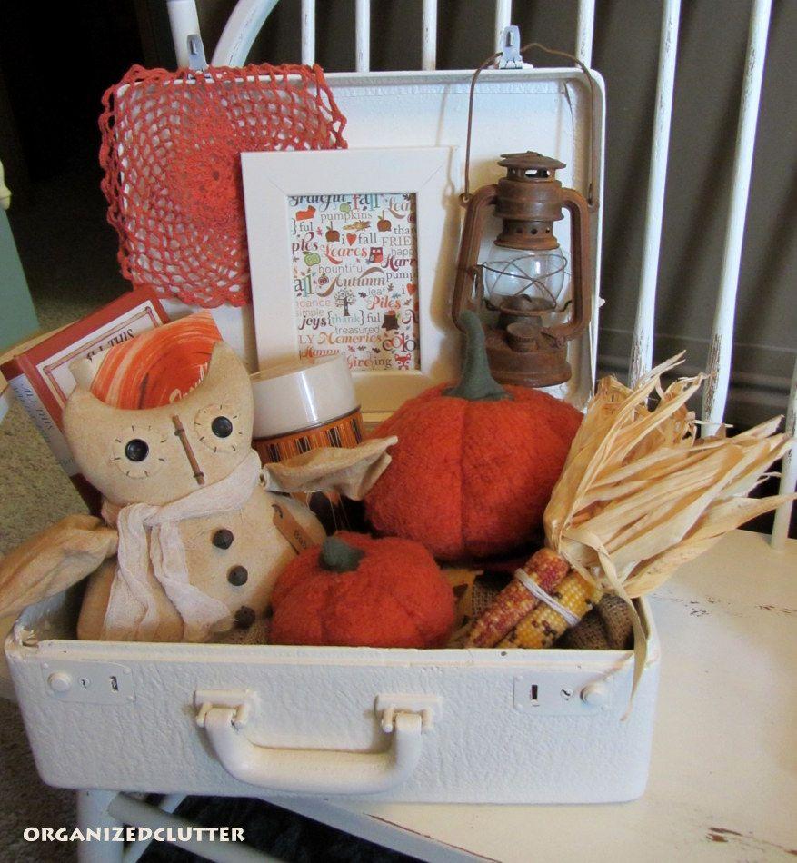 Fall Suitcase Vignette