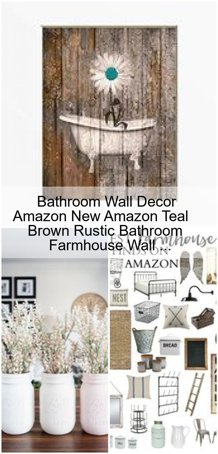 Bathroom Wall Decor Amazon New Amazon Teal Brown Rustic Bathroom Farmhouse Wall Amazo Amazo Amazon Bathroom Brown Decor Farmhouse Rustic Teal I 2020