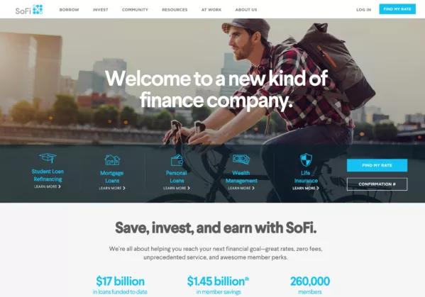 Social Finance Sofi Specializes In Student Loan Refinancing But Offers A Range Of Financial Products In Social Finance Refinance Student Loans Personal Loans