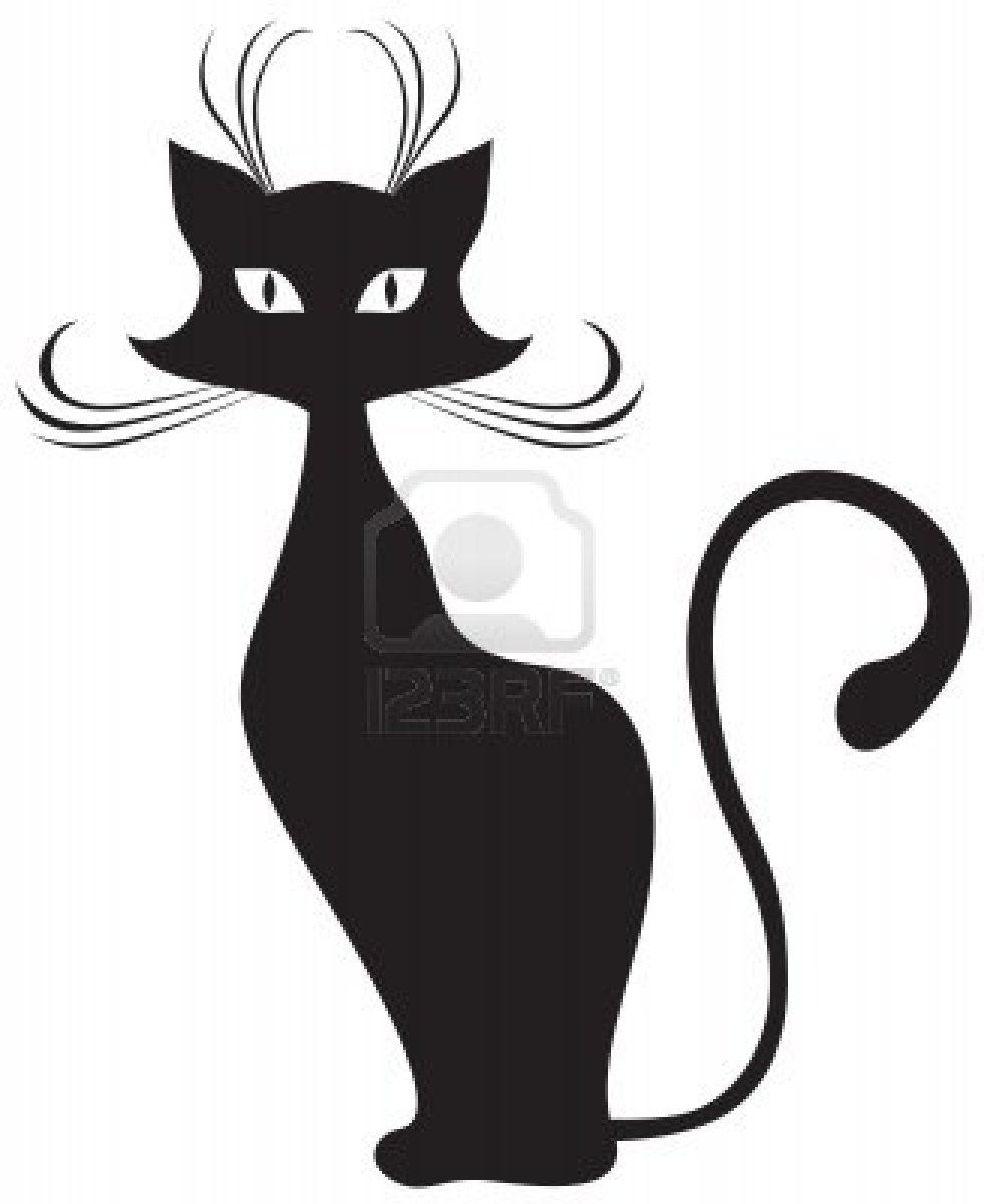 The silhouette of black graceful cats gatos pinterest - Tatouage silhouette chat ...