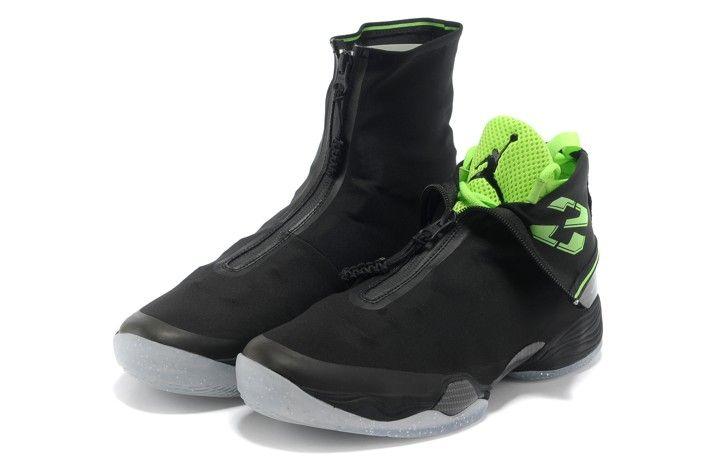 Black · Nike Air Jordan 28 XXVIII Mens Shoes Black Green