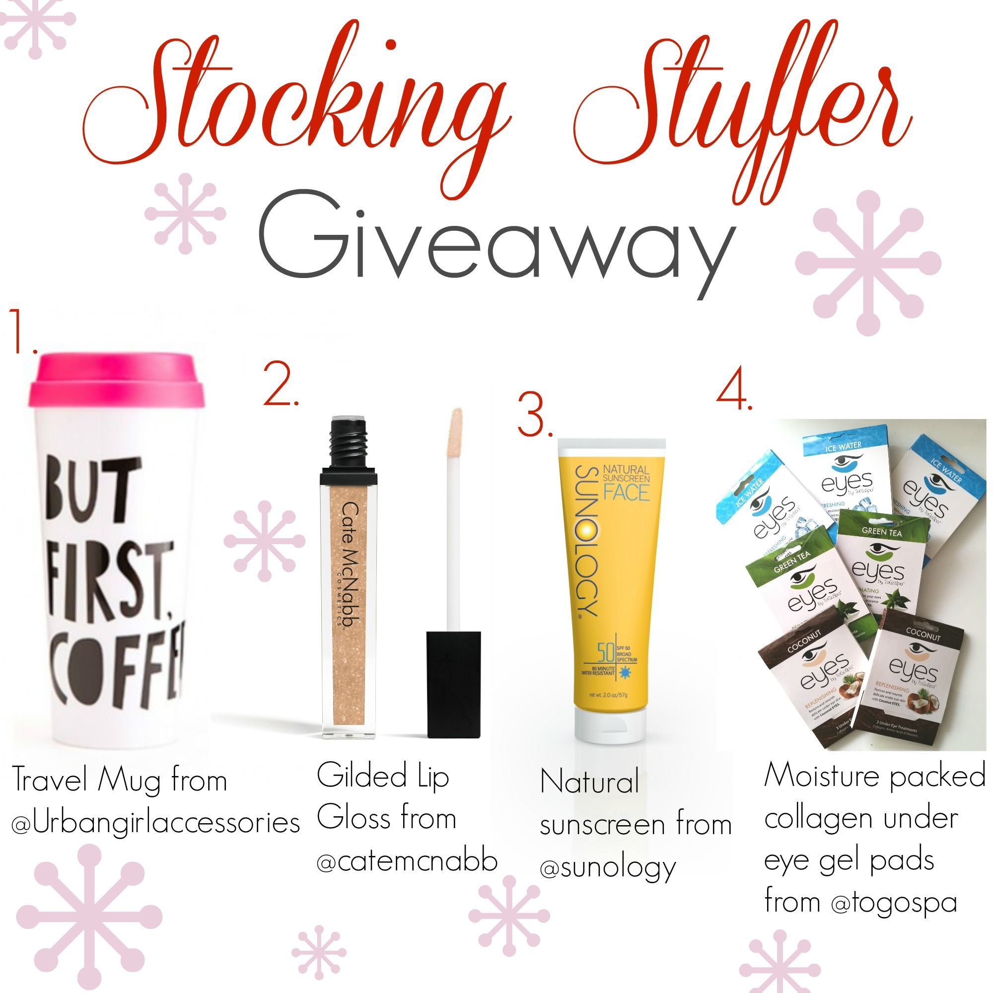 Stocking Stuffer Giveway #giveaway #instagramgiveaway #stockingstuffers http://thetribemagazine.com/stucking-stuffer-instagram-giveaway/