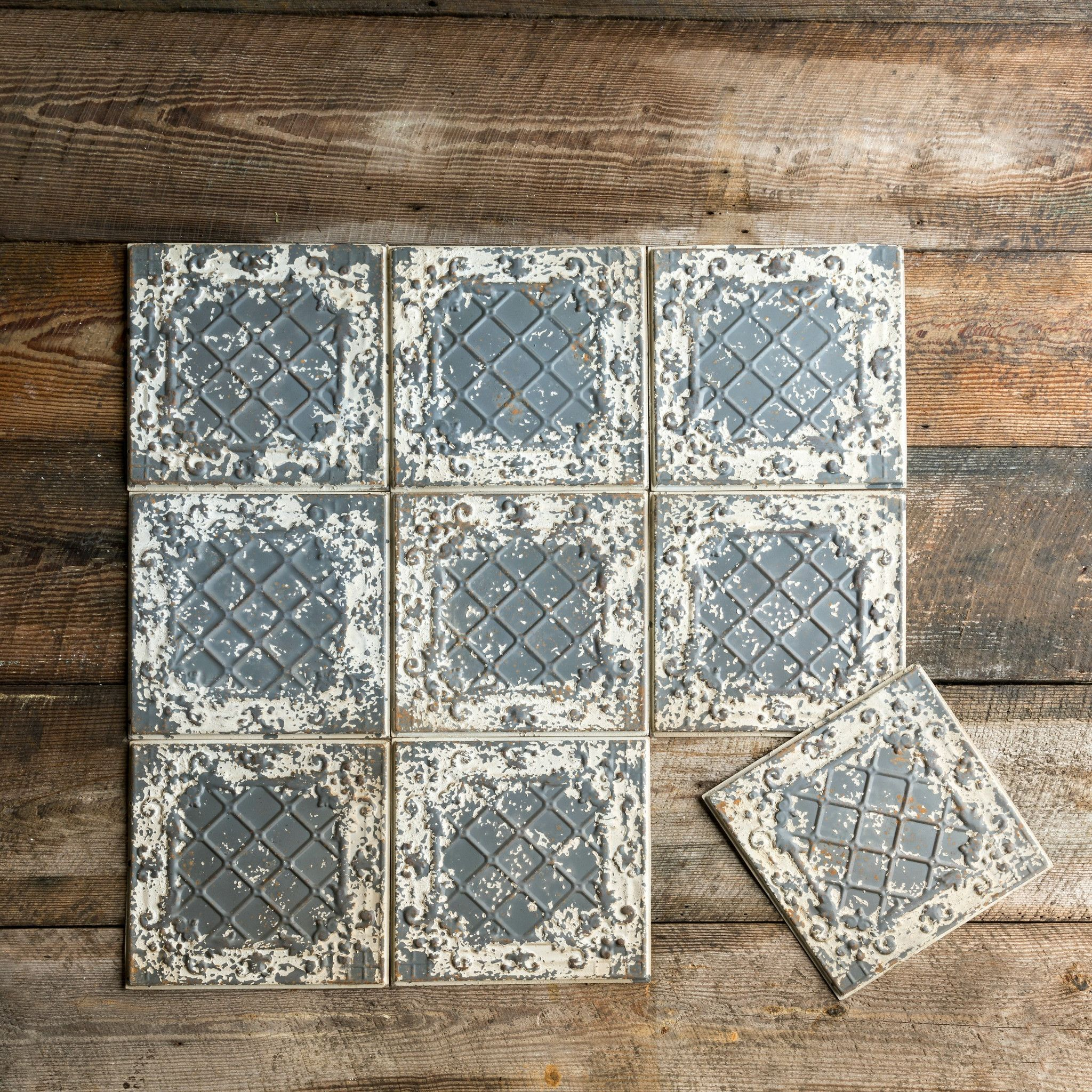 Antique white tin ceiling tile products pinterest tin ceilings antique white tin ceiling tile dailygadgetfo Image collections