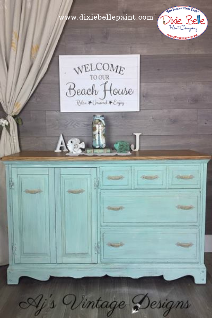 Sea Glass Chalk Mineral Paint Is A Soft Blue Green Color Like