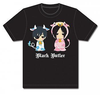 Black Butler T-Shirt - Cows Sebastian & Ciel