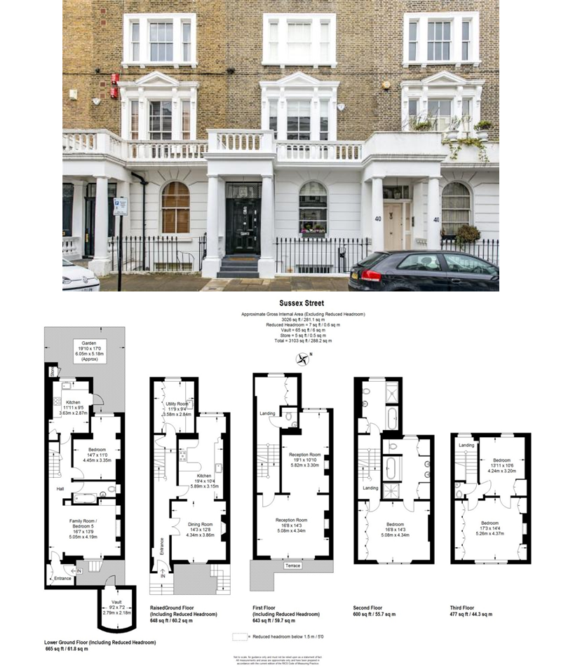 Sussex Street London Sw1v Victorian Townhouse London House House Floor Plans