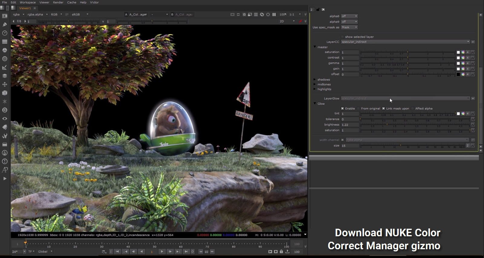 Download The Foundry #NUKE Color Correct Manager gizmo | 3D Plugins