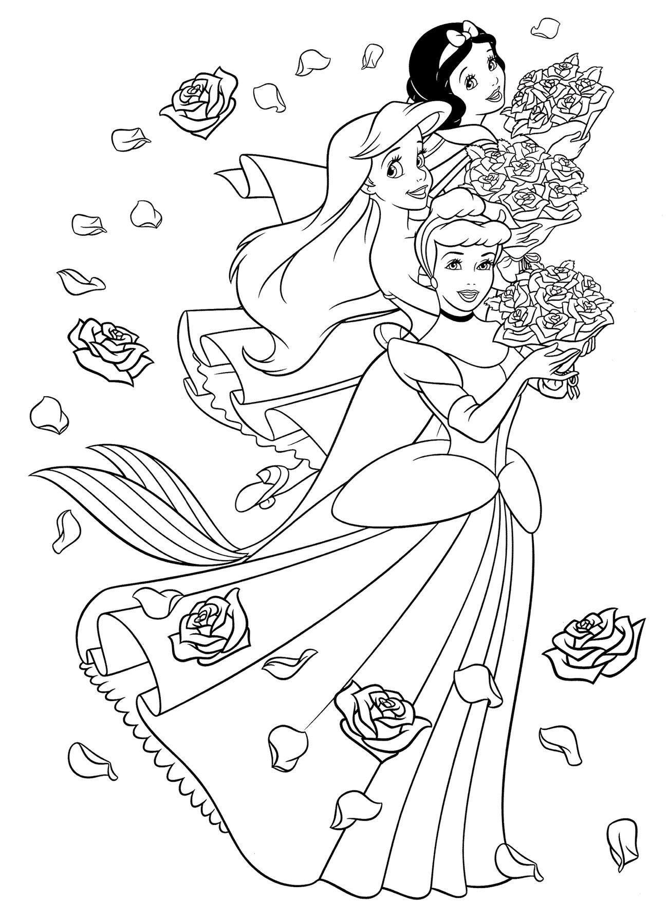 Принцессы | Раскраски дисней, Раскраски, Принцессы диснея