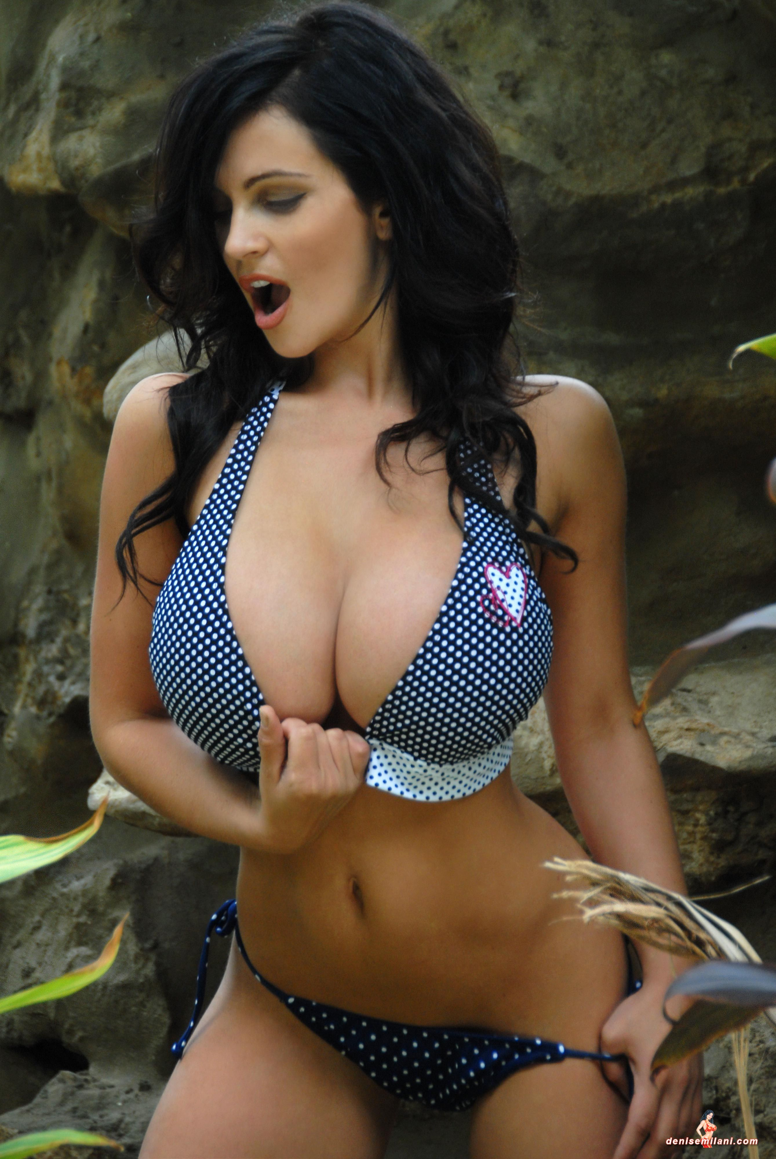 Denise milani hot bikini think, that
