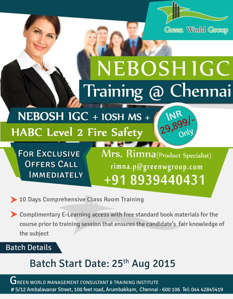 Gwg Provide Special Offer For Nebosh Igc Course In Chennai At 29 899