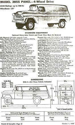 1959 chevrolet apache 3855 napco 4 wheel drive 1 ton 10 panel delivery alteredbeast s specs gvw chevy trucks ford trucks chevrolet apache chevy trucks ford trucks chevrolet apache