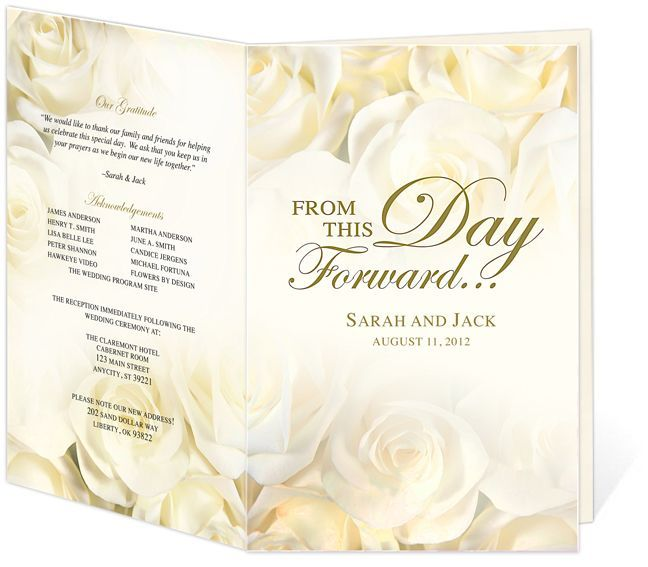 Wedding Program Templates Image  HttpWwwRedwatchonlineOrg