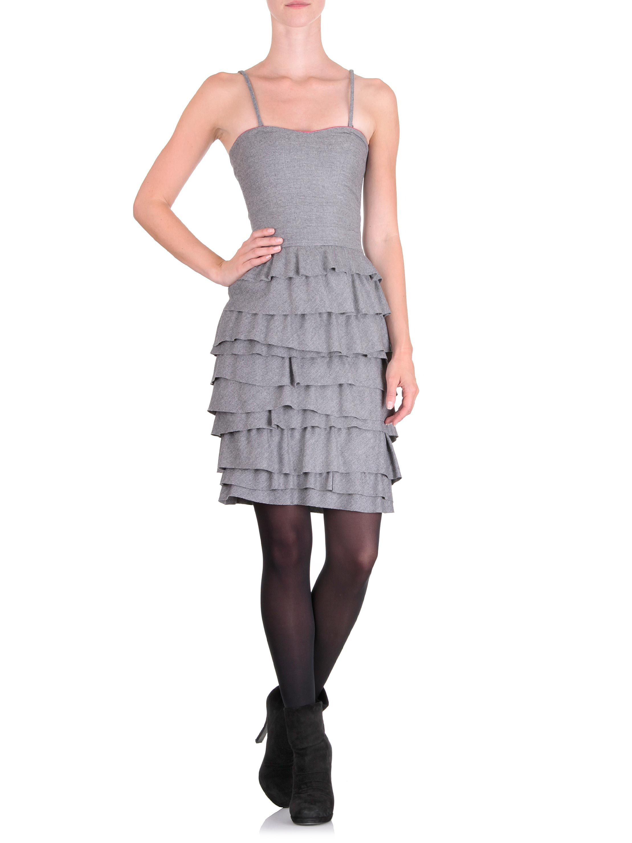 Cavalli class dress grey cavalli wool dress and gray