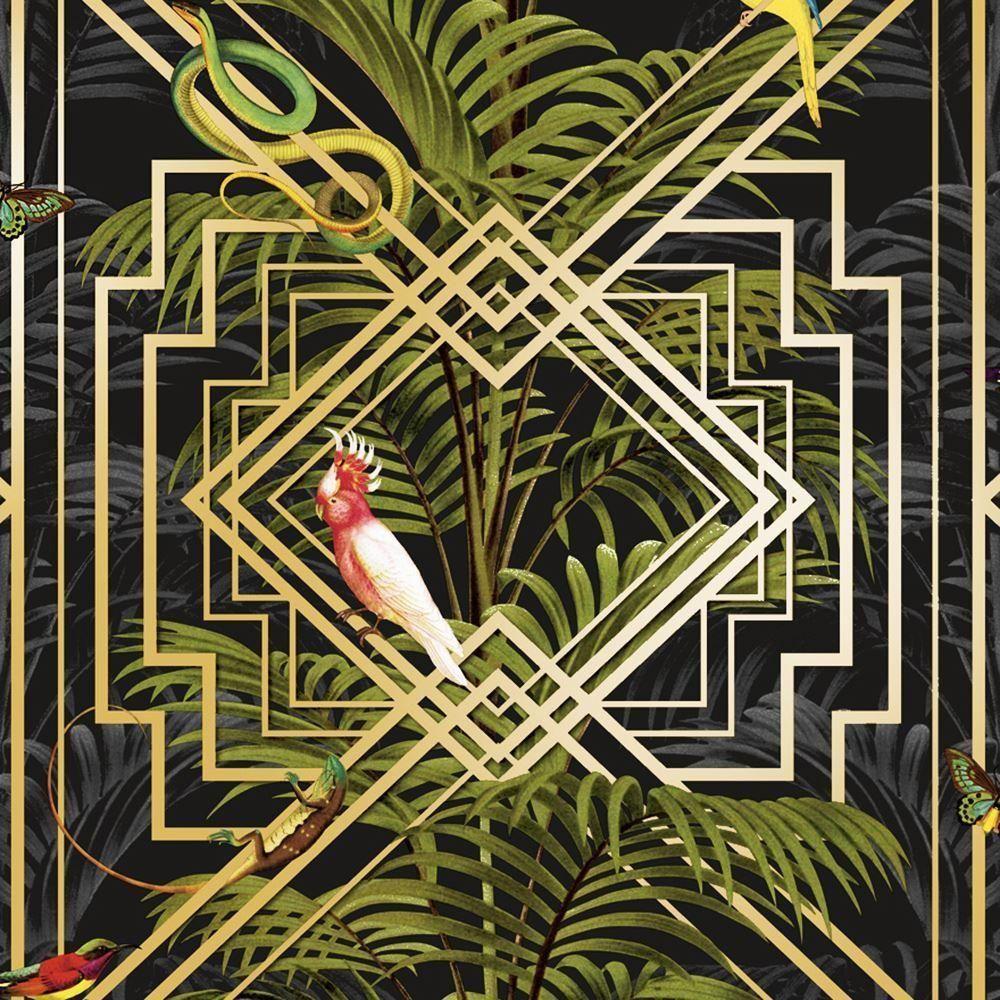 WM9020201 Palm Leaf Banana Leaves Tropical Jungle Wallpaper