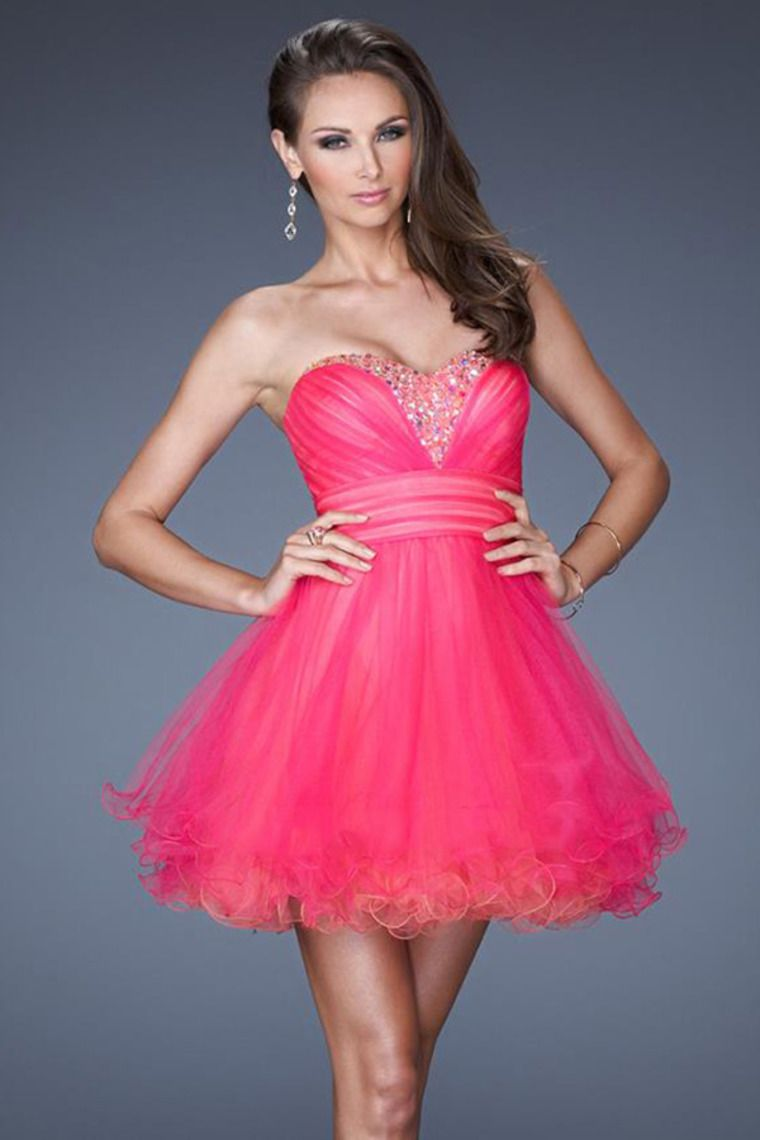 sweetheart a line short prom dress pleated and fitted bodice