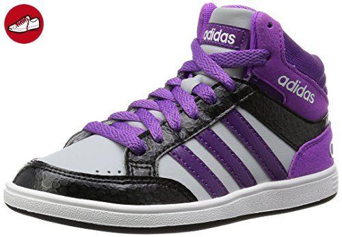 Adidas - Hoops Mid K - AW5130 - Farbe: Schwarz-Violett-Weiß - Größe: 36.6 - Adidas schuhe (*Partner-Link)