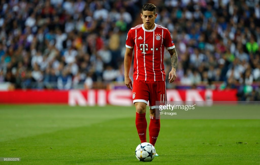 James Rodriguez Of Bayern Muenchen Looks On During The Uefa Champions James Rodriguez Bayern München Champions League Semi Finals