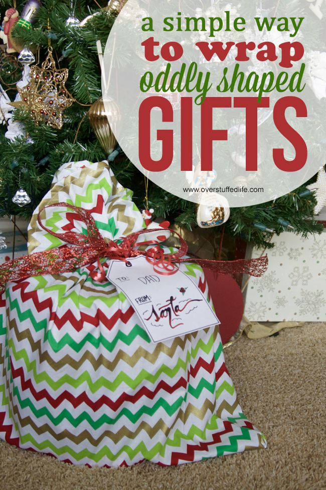 How to Make Santa Bags for Oddly Shaped Gifts | Christmas ...
