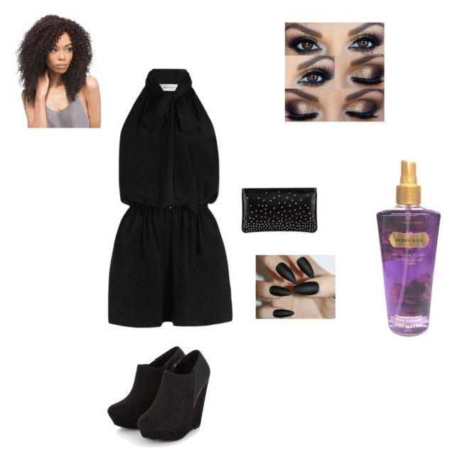 """All Black"" by stephaniemilsom on Polyvore featuring Zimmermann, Christian Louboutin and Victoria's Secret"