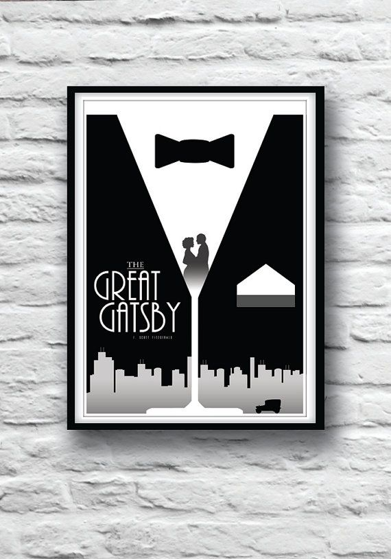 The Great Gatsby Movie Poster Housewares Wall Decor Literature