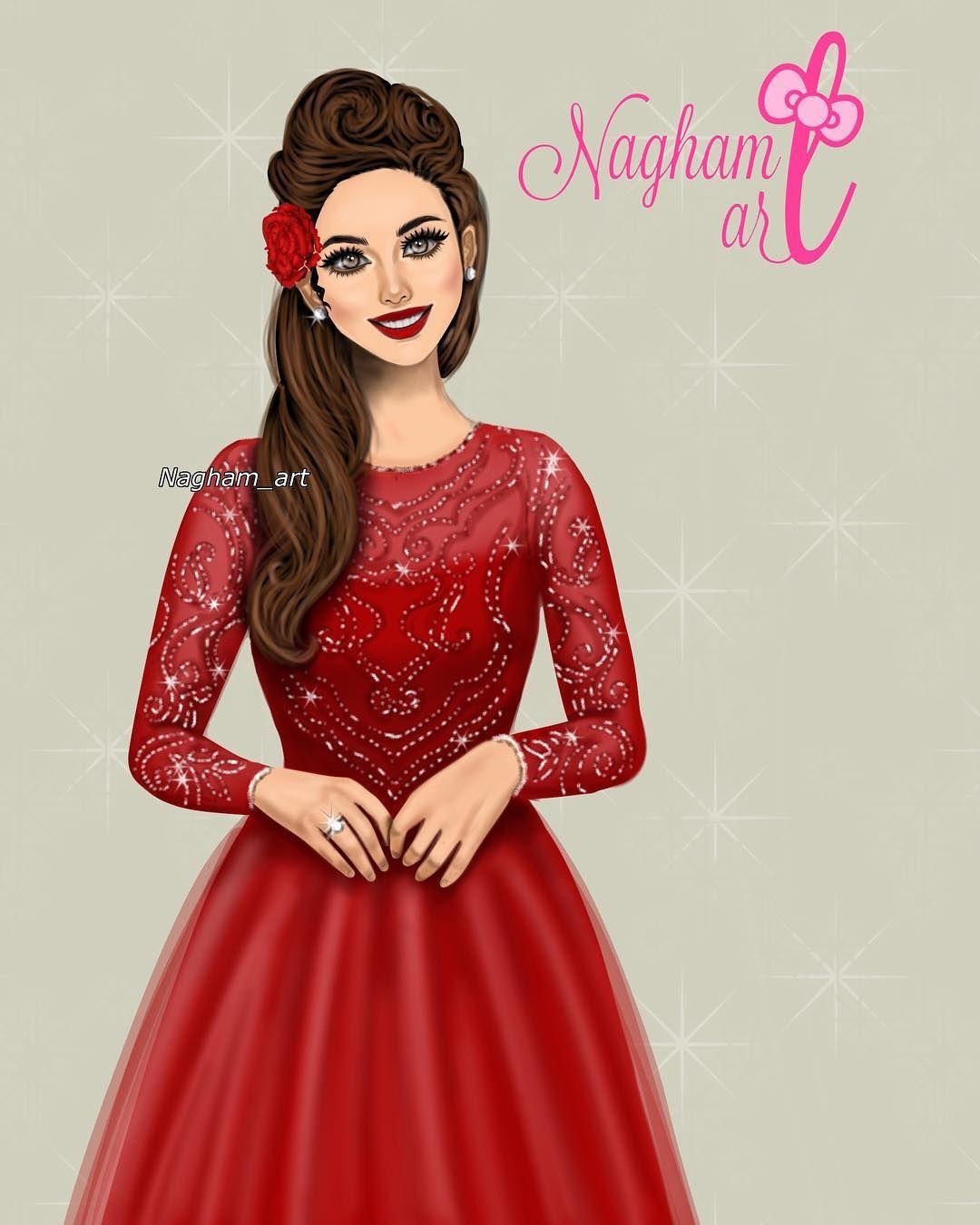 خلفيات بنات كرتونيه رمزيات كرتون للبنات Lovely Girl Image Dress Sketches Beautiful Girl Drawing