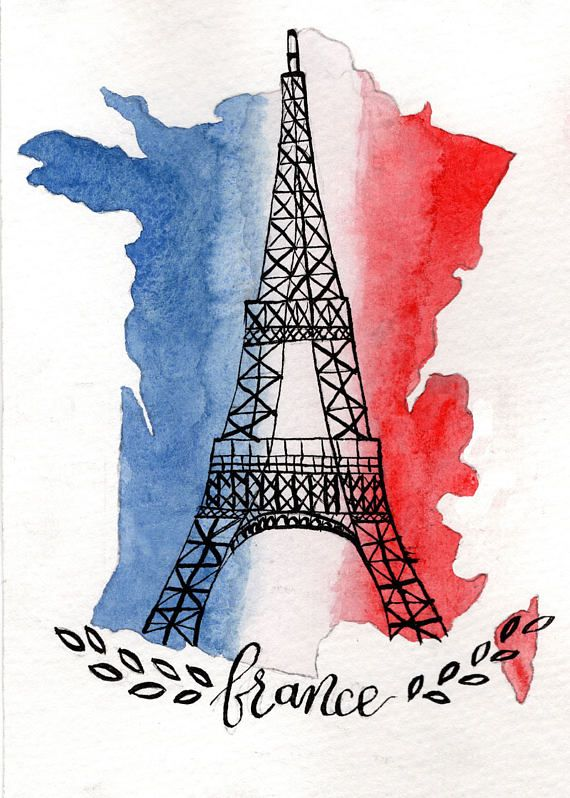 Country Of France Featuring The Eiffel Tower And The French Flag