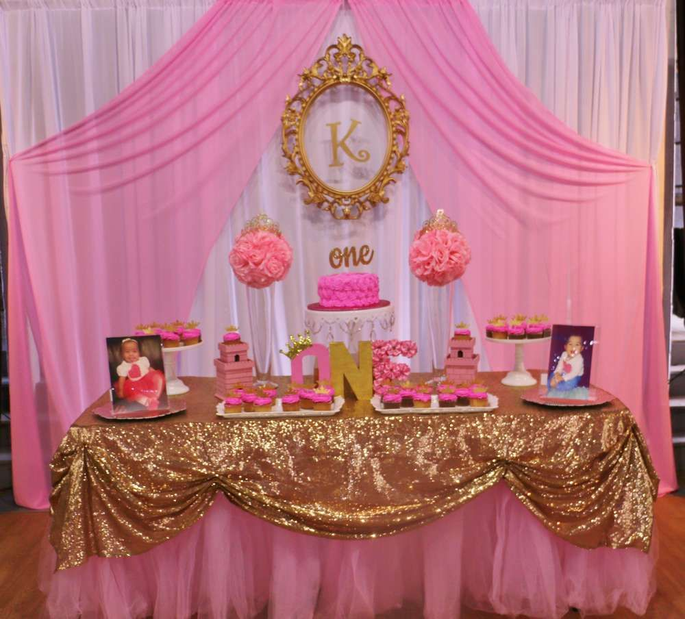 Princess Glitz Pink Gold Birthday Party Ideas Photo 1 Of 13