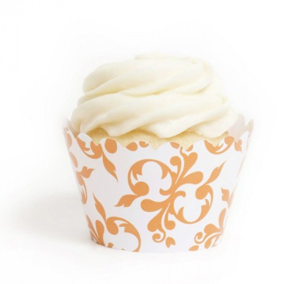 wholesale wedding supplies Orange Filigree Cupcake Wrappers DMC Wholesale Wedding Supplies Discount Wedding Favors