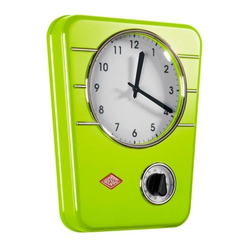 Wesco Kitchen Clock Classic Line - lime green