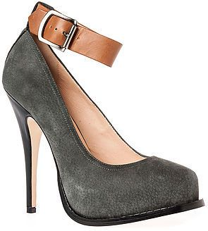 Vivienne Westwood The Viva Shoe in Black and Grey Leather on shopstyle.com